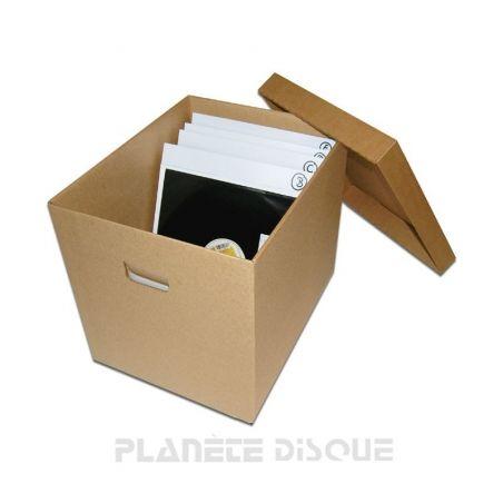 Boîte de rangement en carton pour LP