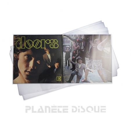 50 Pochettes protection vinyle 33T 100 microns PP gatefold