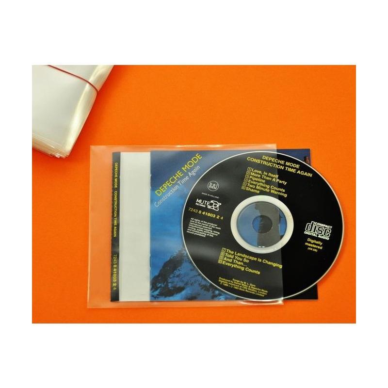 100 Pochettes CD, livret PE & fiche arrière