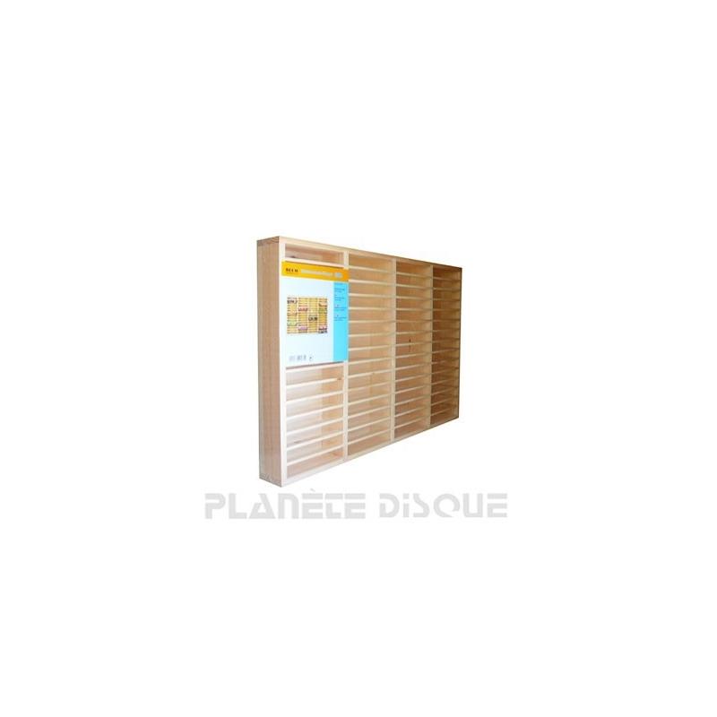 Etagère en bois pour 60 K7 cassettes