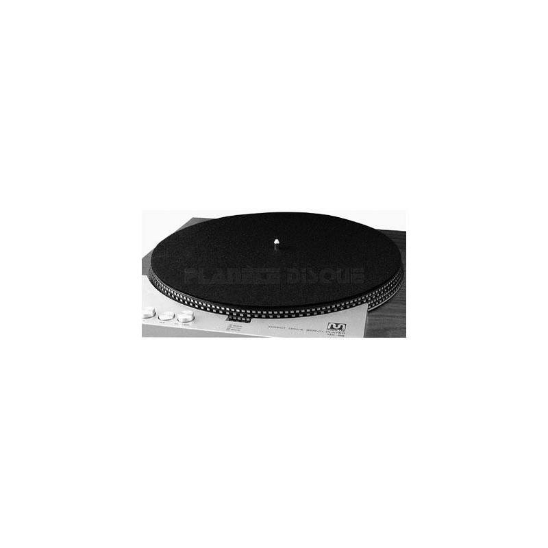 DJ Slipmat zwart set 2 stuk