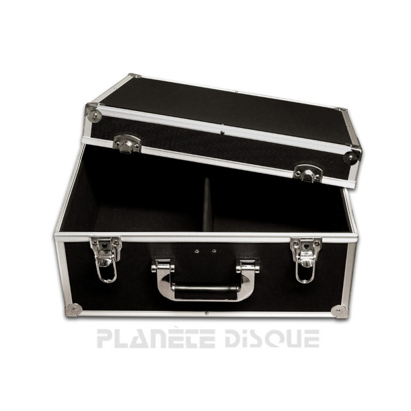 Koffer flight case voor 200 singles zwart
