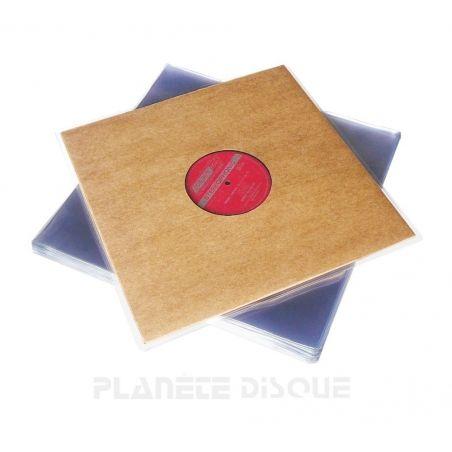 50 Pochettes protection vinyle 33T 140 microns PVC brillant