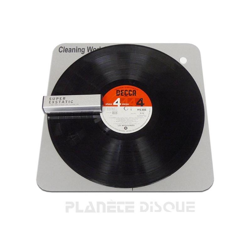 Tapis en mousse pour nettoyage disques vinyles & CDs