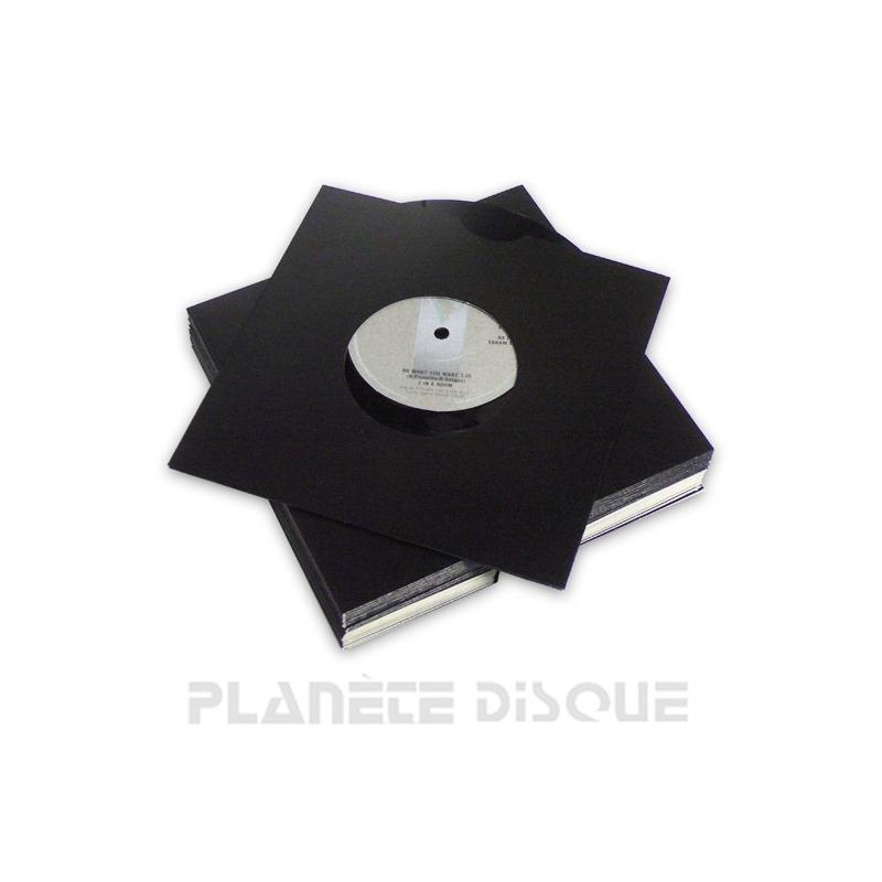 25 Single hoezen zwart karton met venster