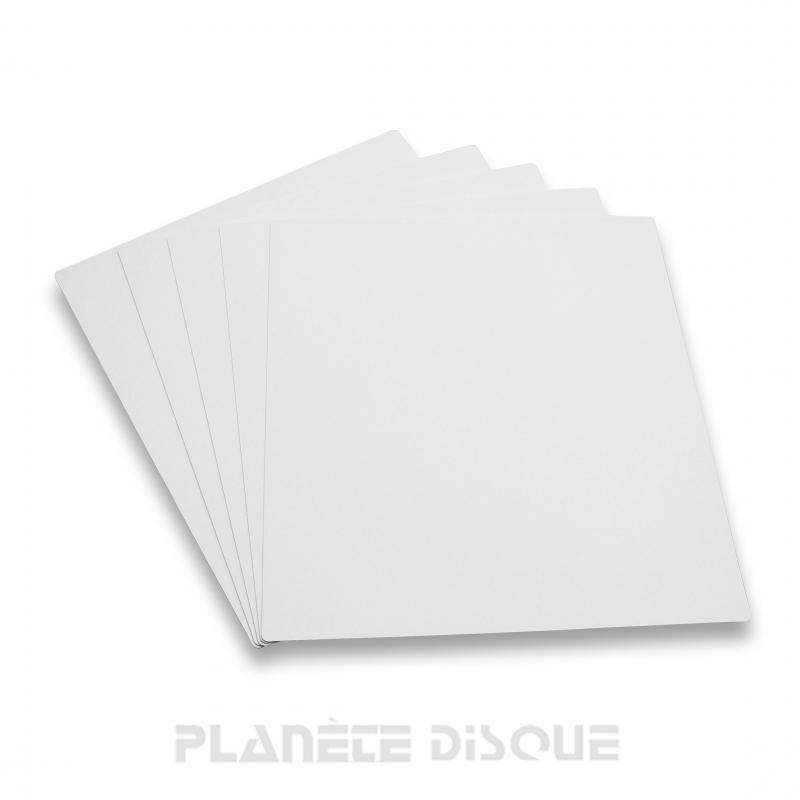 10 Intercalaires identification pour 33T blancs