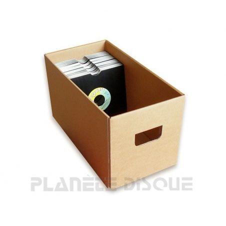 Boîte de rangement en carton pour singles 45T