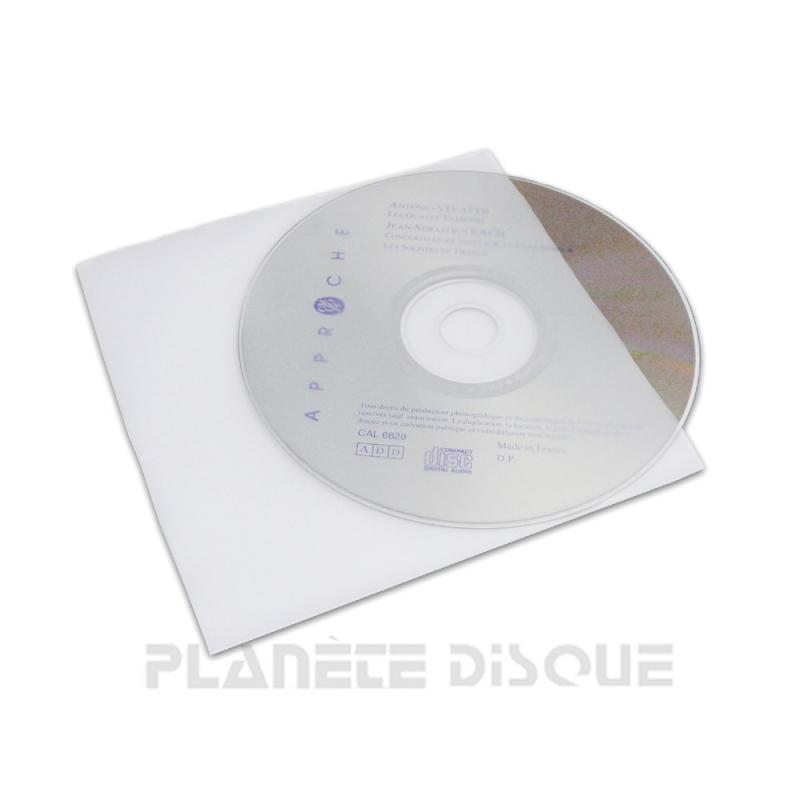 100 Pochettes transparentes antistatiques pour CD
