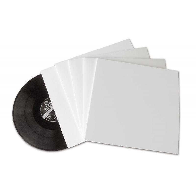 25 LP platenhoezen wit karton zonder venster