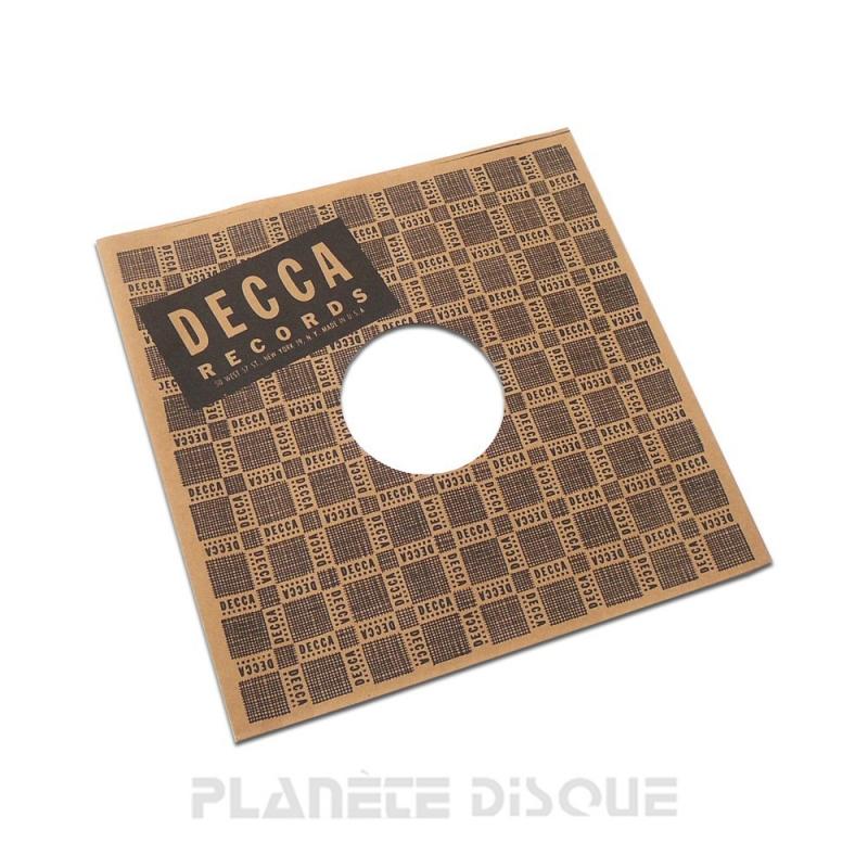 Hoes papier voor 78 toeren plaat (imitatie Decca No 2)