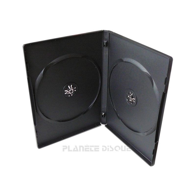 10 Boîtiers DVD doubles noirs