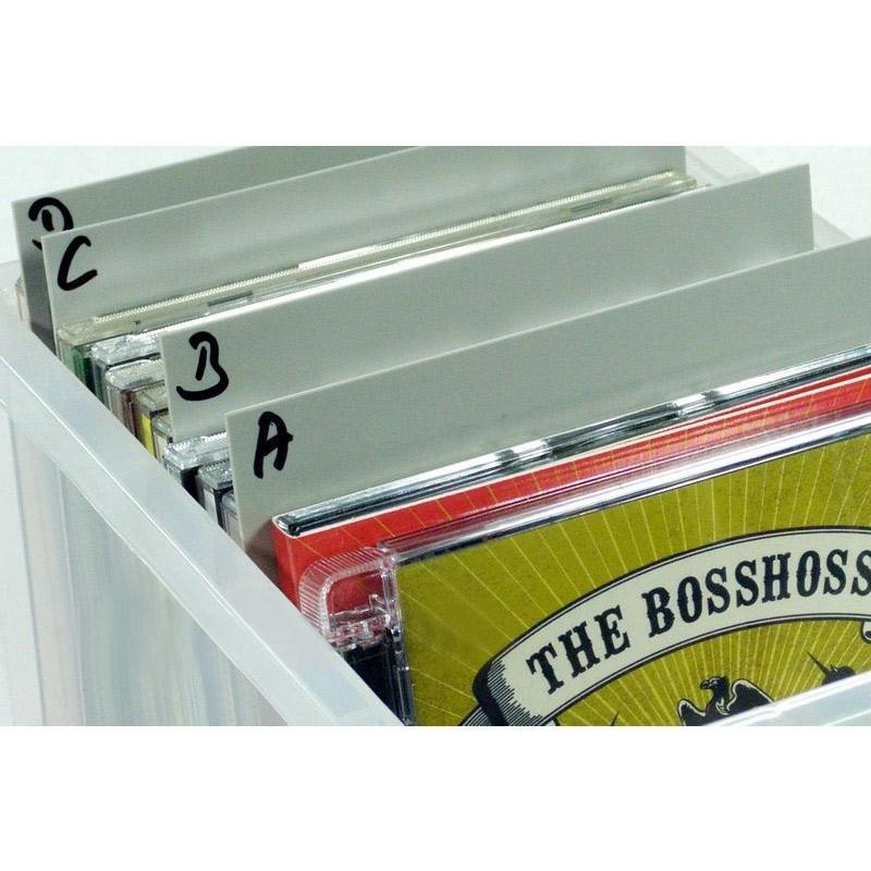 10 Dividers voor CDs grijs
