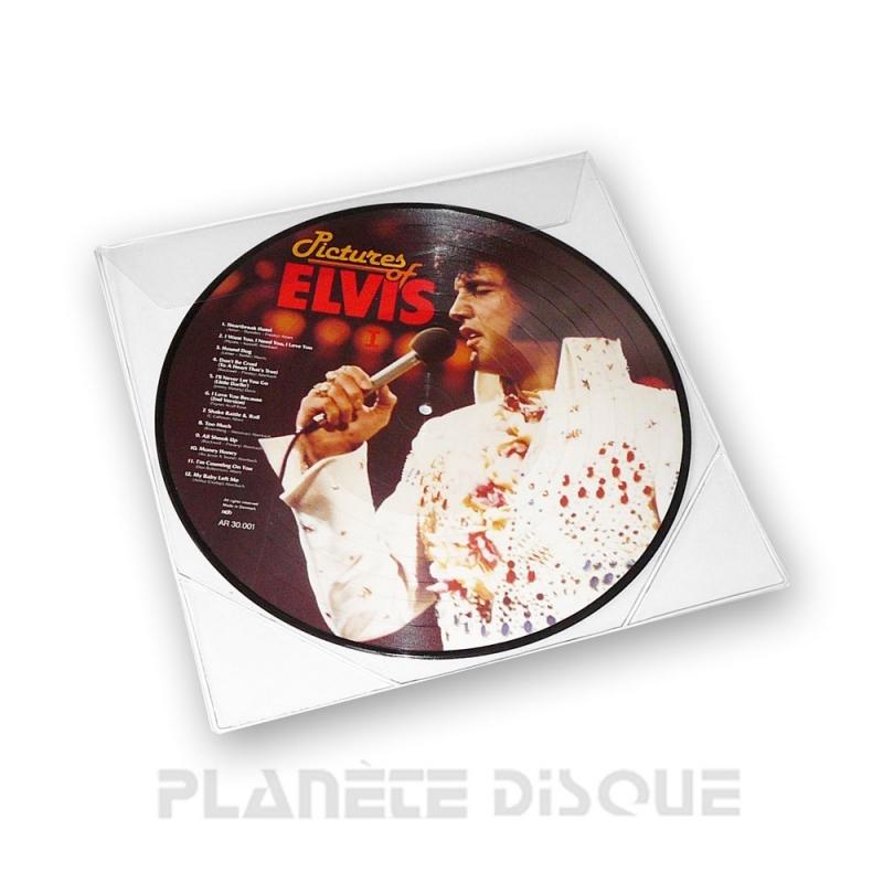 10 Pochettes protection picture vinyle 33T PVC Deluxe