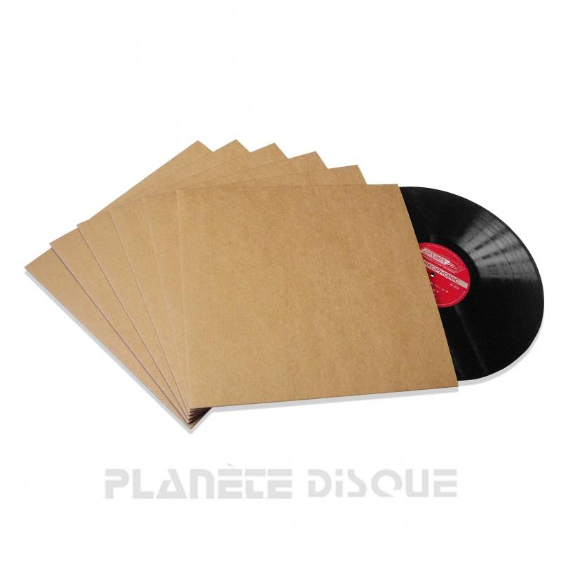 10 LP platenhoezen karton kraft zonder venster