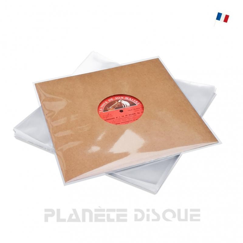 50 Plastic platen hoezen vinyl 10 inch / 25 cm PP