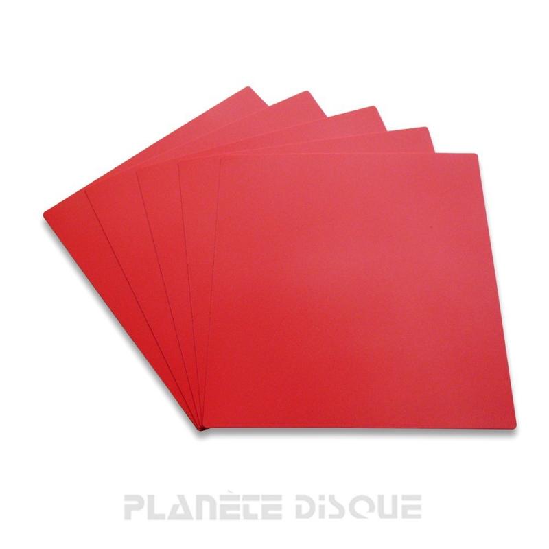 10 Intercalaires identification pour 33T rouges