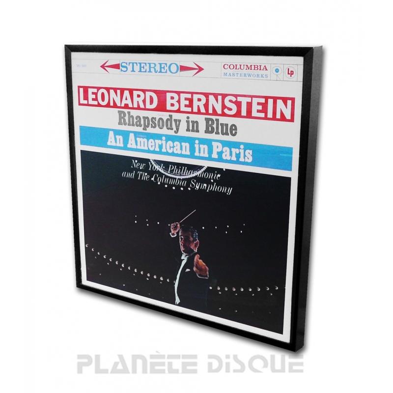 Cadre noir pour pochette vinyle LP 33T
