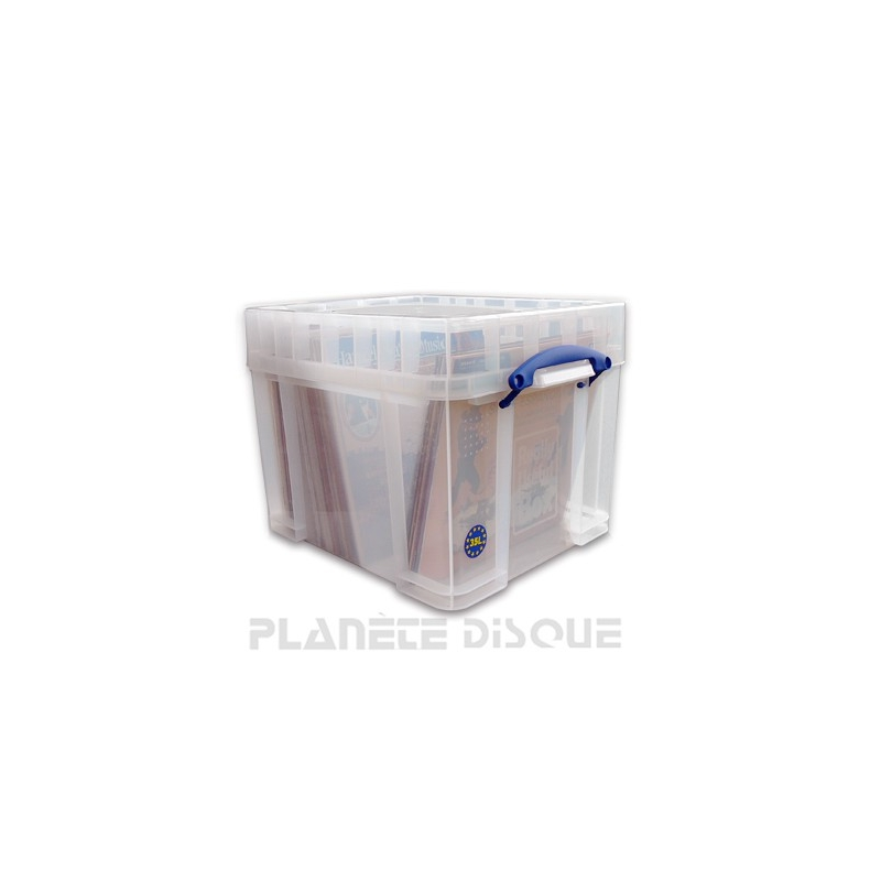 Really Useful Box 100 disques vinyles 33T transparent