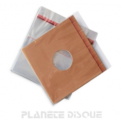 50 Pochettes protection 25cm/10 inch refermables PP