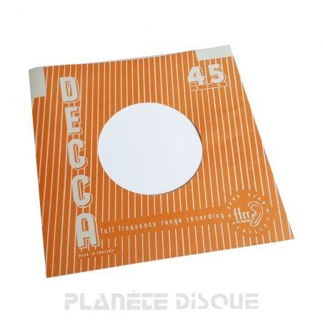 Hoes papier voor 45 toeren single (imitatie Decca No 1)