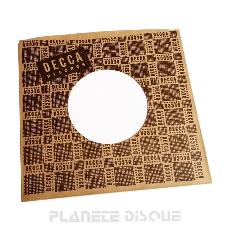 Pochette papier imitation 45T Decca No 1