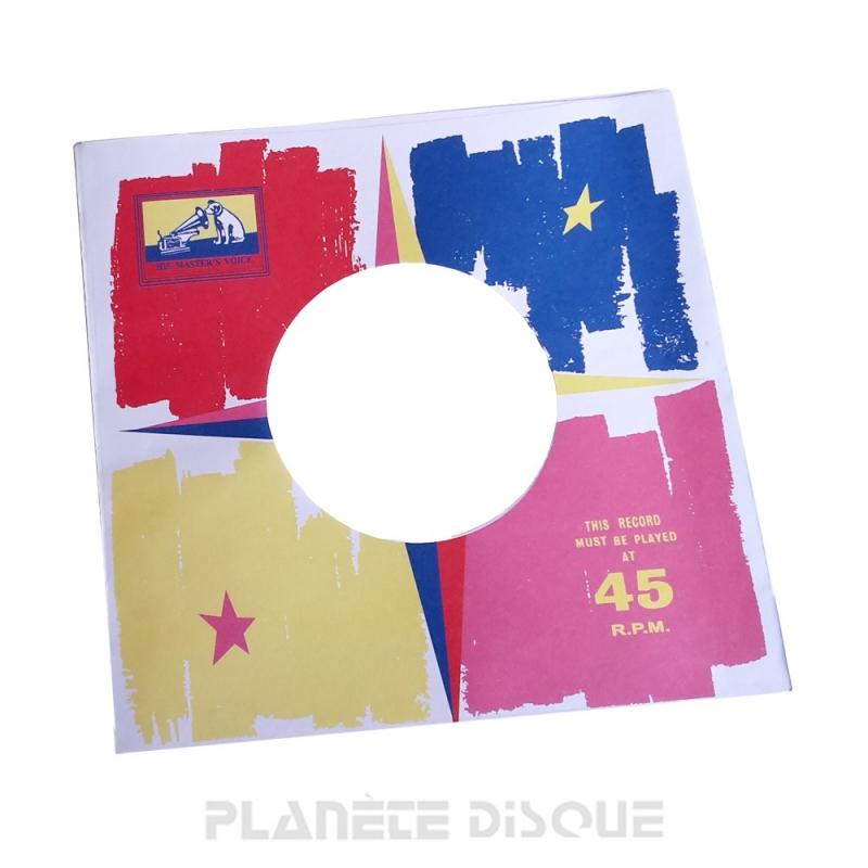 Hoes papier voor 45 toeren single (imitatie HMV No 3)
