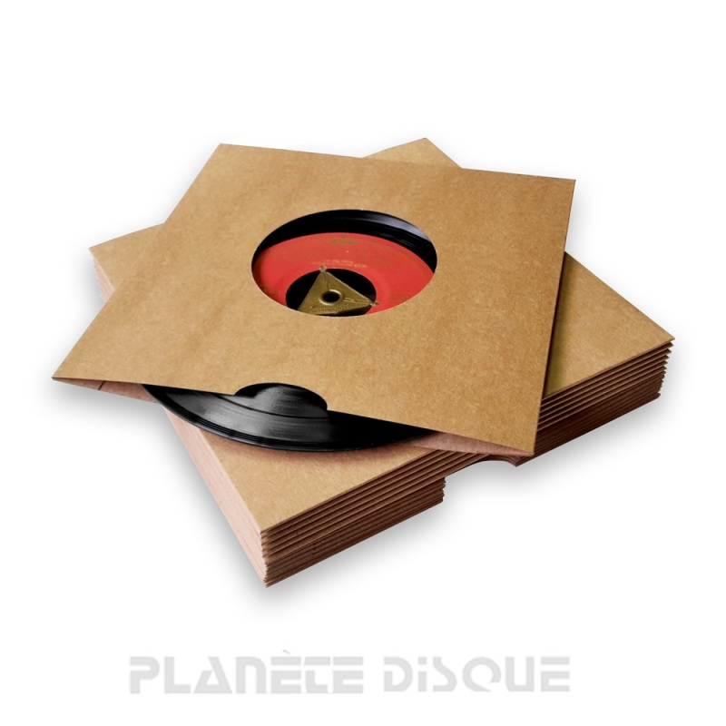 25 Pochettes carton kraft avec trou 45T