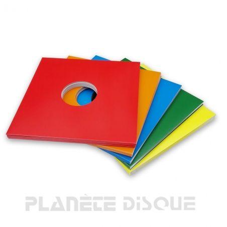 25 Pochettes carton avec trou 33T 5 couleurs
