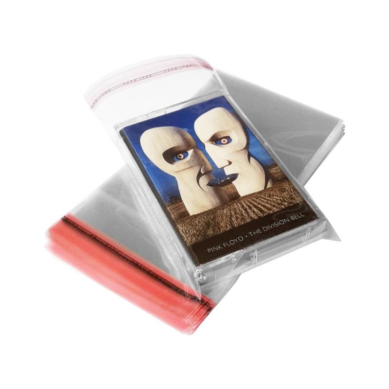 100 Hoezen voor cassettedoosje glashelder hersluitbaar