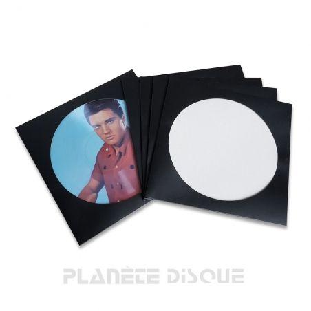 25 Platenhoezen zwart karton voor Picture LP