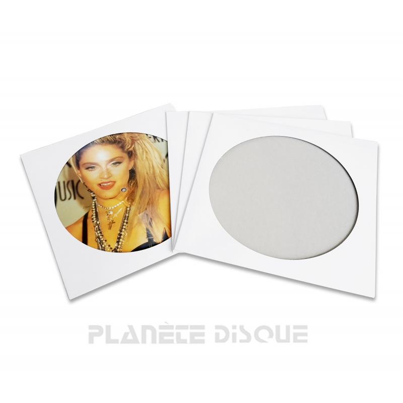 25 Pochettes carton picture vinyle 33T blanches
