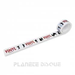 "PVC verpakkingstape ""VINYL FEEL THE MUSIC"""