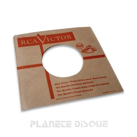 Hoes papier voor 45 toeren single (imitatie RCA)