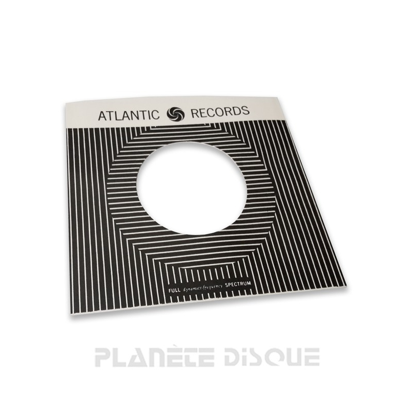 Pochette papier imitation 45T Atlantic Records