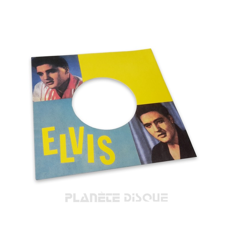 Pochette papier imitation 45T Elvis