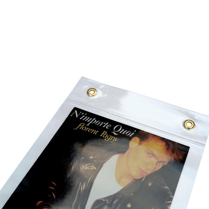Transparante PVC platenhouder lijst voor 6 singles