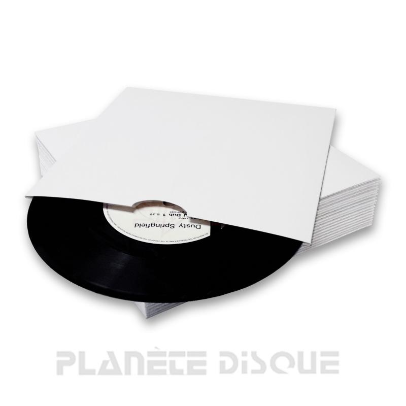 25 Single hoezen wit karton zonder venster