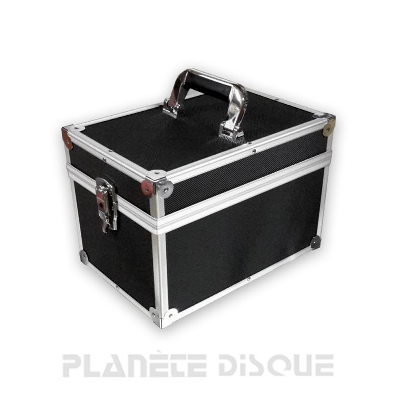 Koffer flight case voor 100 singles zwart