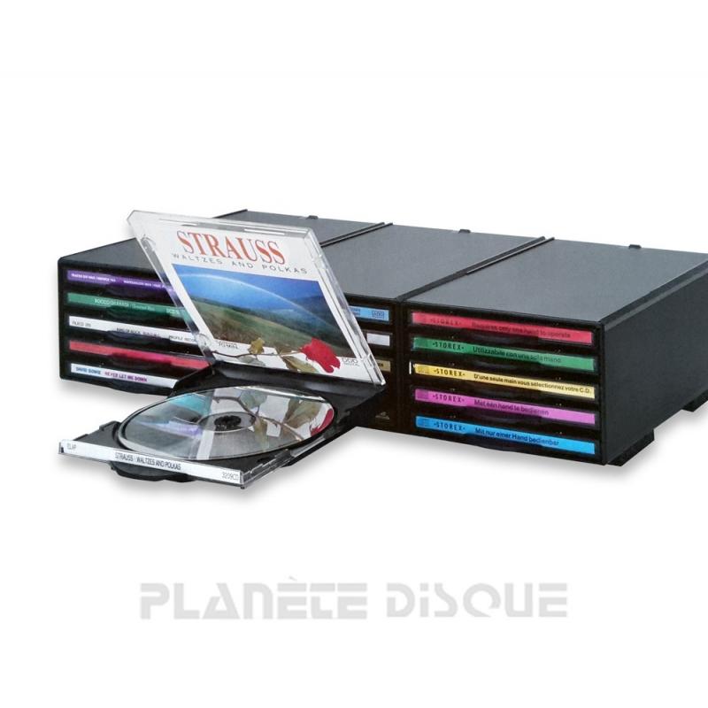 Rangement Compact Disc System Storex pour 15 CD