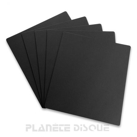 10 Intercalaires identification pour 45T noirs