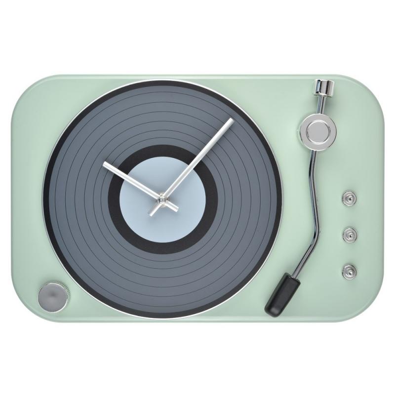 Horloge Tourne Disque Gris Vert