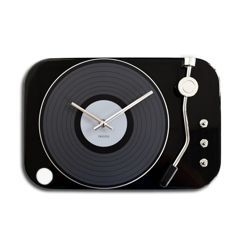 Horloge Tourne Disque Noir