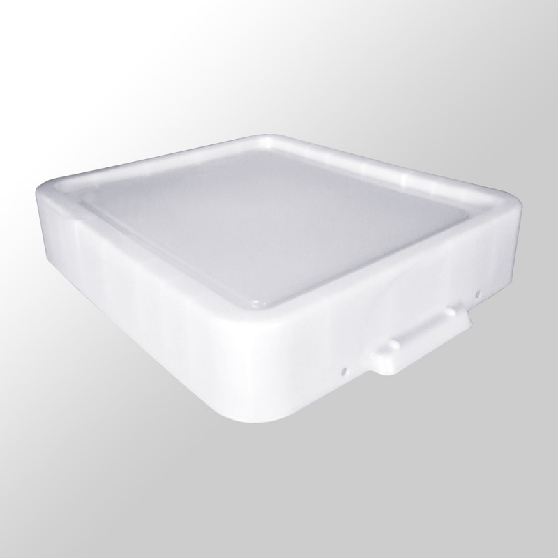 Reservedeksel voor de Really Useful Box 100 LPs White Strong