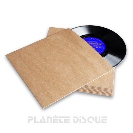 25 Platenhoezen bruin karton zonder venster 25 cm / 10 inch