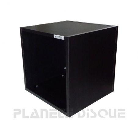 Glorious 110 caisse en bois noir rectangulaire pour disques vinyles