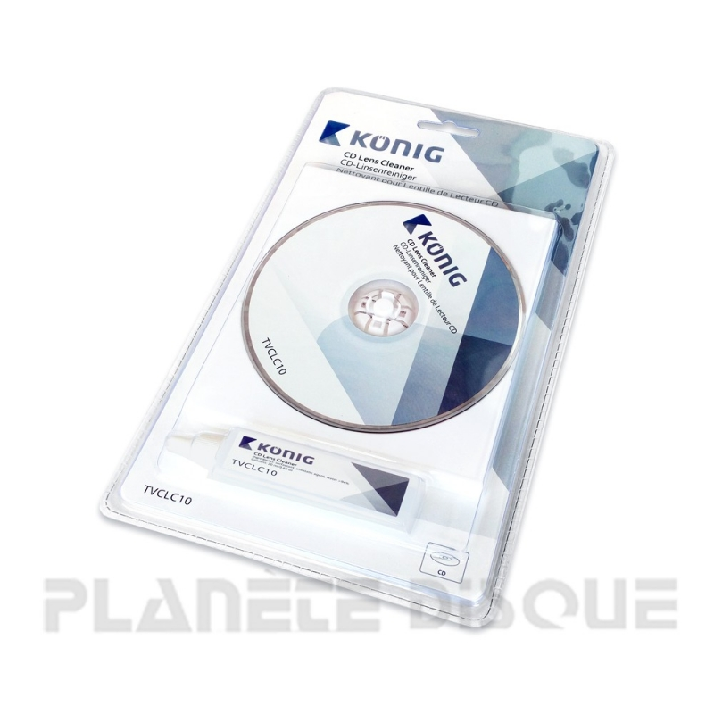 Disque de nettoyage avec liquide pour lecteur CD König