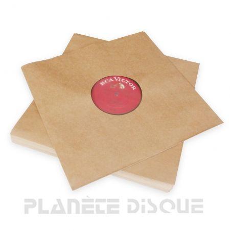 100 Sous-pochettes kraft doublées vinyle 33T Deluxe