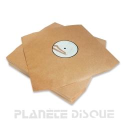 50 Deluxe LP binnen hoezen kraft zonder kunststof voering