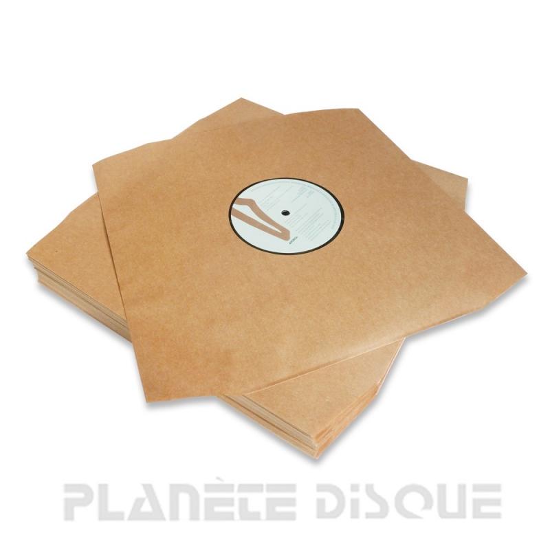 50 Sous-pochettes vinyle 33T papier kraft Deluxe
