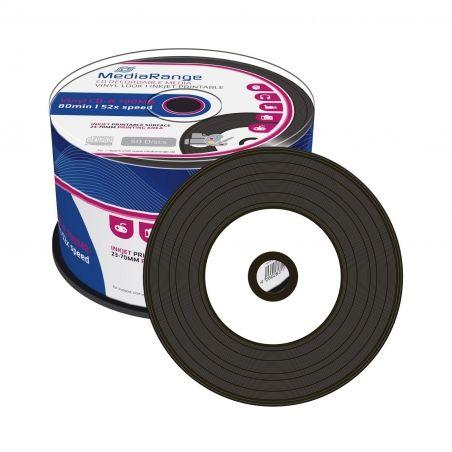 50X CD-R 700Mo 80Min Inkjet White Vinyl